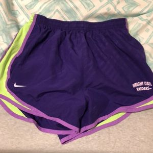 Nike Wright state work out shorts